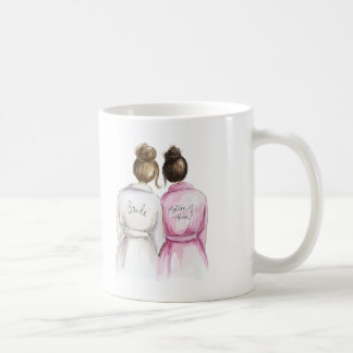 Matron of Honor? Brunette Bun Bride Dk Br Bun Maid Coffee Mug