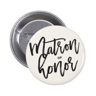 Matron Of Honor Brush Wedding Bridal Party Pin