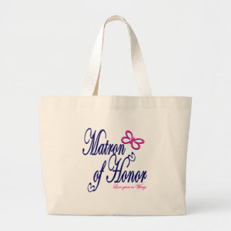 Matron of Honor / Butterfly Large Tote Bag