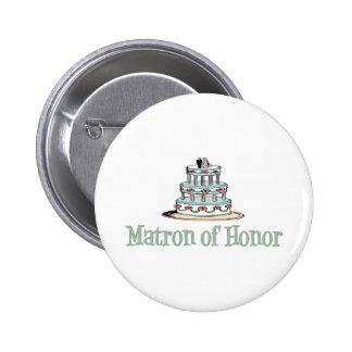 Matron Of Honor (Cake) Button
