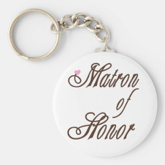 Matron of Honor Classy Browns Keychain