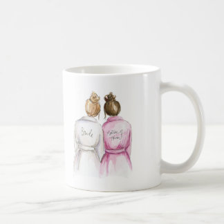 Matron of Honor? Dark Blonde Bun Bride Br Bun Maid Coffee Mug