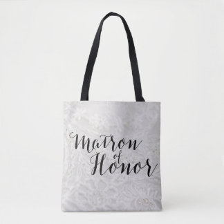 Matron of Honor Gift Bridal Canvas Tote Bag