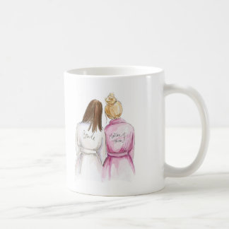 Matron of Honor Gift Brunette Bride Blonde Matron Coffee Mug