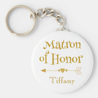 Matron of Honor Gifts Keychain