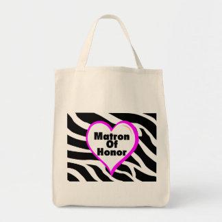Matron Of Honor (Heart Zebra Print) Tote Bag