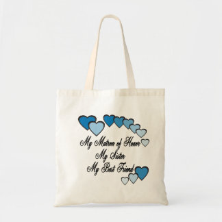 Matron of Honor Hearts Tote Bags
