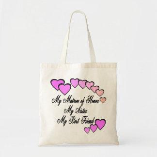 Matron of Honor Hearts Tote Bag
