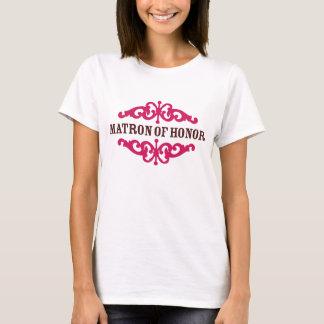 Matron of Honor (Hot Pink & Chocolate Brown) T-Shirt