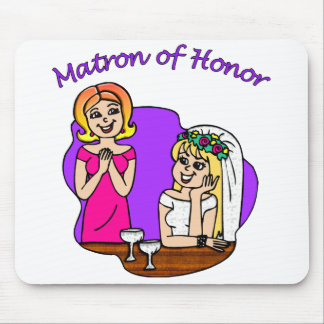Matron of Honor I Mouse Pad