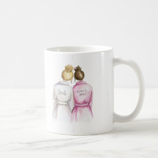 Matron of Honor? Mug Blonde Bride Brunette Maid