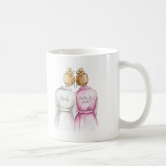 Matron of Honor? Mug Blonde Bride Dark Blonde Maid