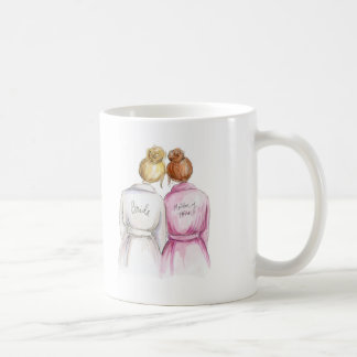 Matron of Honor? Mug Blonde Bride Dark Red Maid