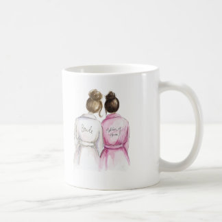 Matron of Honor? Mug Brunette Bride Dark Br Maid