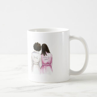Matron of Honor? Mug Short Curl Bride BrunetteMaid
