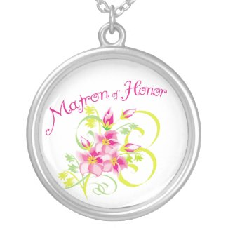 Matron of Honor Necklace zazzle_necklace