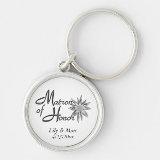 Matron of Honor Personalized Keychain