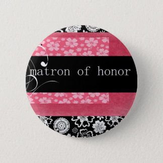 Matron of Honor Pinback Button
