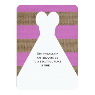 Matron of Honor Poem in Pretty Orchid Card