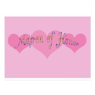 Matron of Honor Post Cards