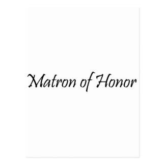 Matron of Honor Postcard