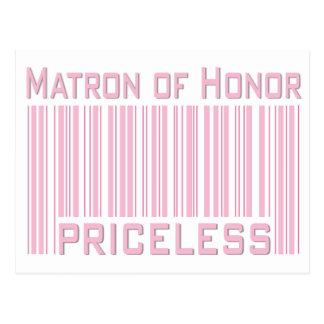 Matron of Honor Priceless Postcard