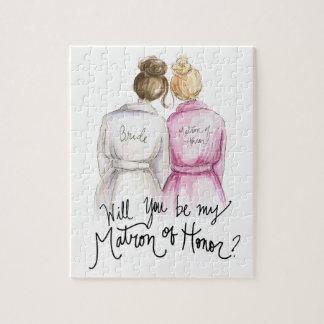 Matron of Honor? Puzzle Br Bun Bride Bl Bun Maid