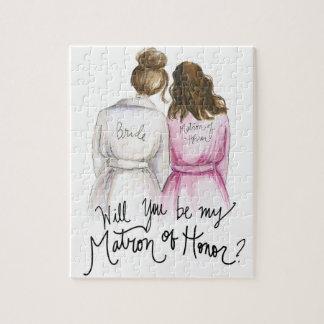Matron of Honor? Puzzle Br Bun Bride Br Waves Maid