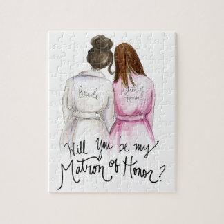 Matron of Honor? Puzzle Dk Br Bun Bride Br Maid