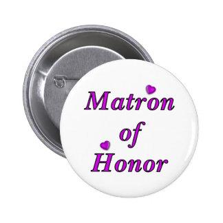 Matron of Honor Simply Love Button