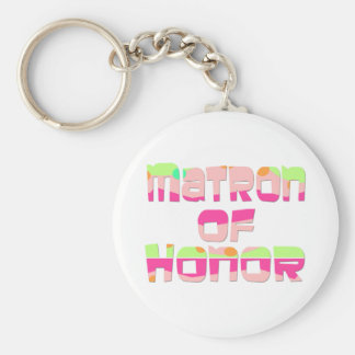 Matron of Honor Tees and Gifts Keychain