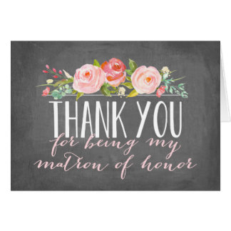 Matron of Honor Thank You | Bridesmaid Card