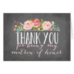 Matron of Honor Thank You | Bridesmaid Stationery Note Card