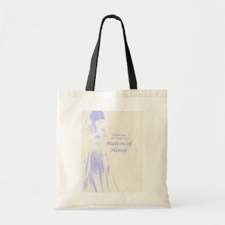 Matron of Honor Thank You Gift Canvas Bags