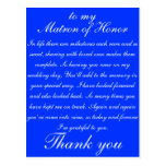 Matron of Honor Thank you Postcard