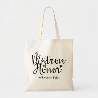 Matron of Honor Tote Budget Canvas Tote Bag