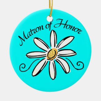 Matron of Honor Wedding Ceramic Ornament