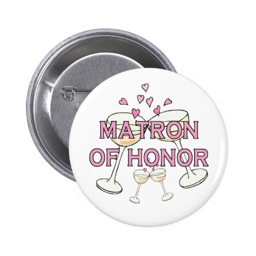 Matron of Honor Wedding ID Button