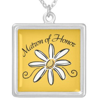 Matron of Honor Wedding zazzle_necklace