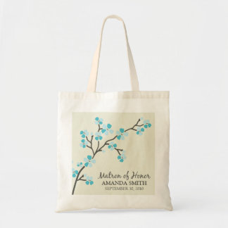 Matron of Honor Wedding Party Gift Bag (aqua)