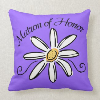 Matron of Honor Wedding Pillow