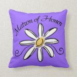 Matron of Honor Wedding Pillow