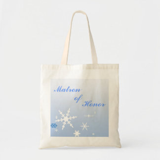 Matron of Honor Winter Wedding Canvas Bags