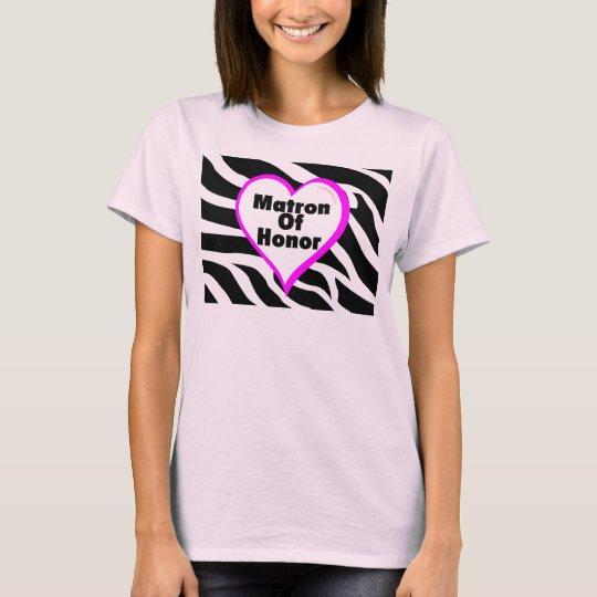 Matron Of Honor Zebra Stripes T-Shirt