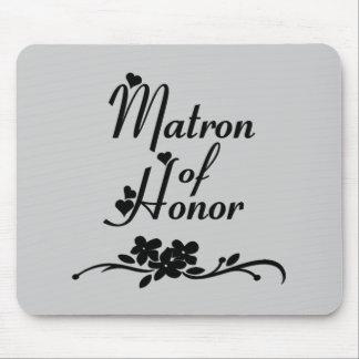 Matrona clásica del honor tapete de raton