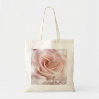 Matrona color de rosa del bolso del honor bolsa tela barata