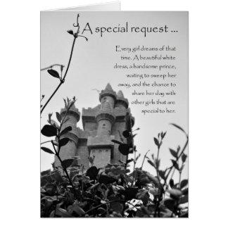 Matrona de la tarjeta de la petición del castillo