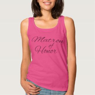 Matrona de las camisetas sin mangas del honor