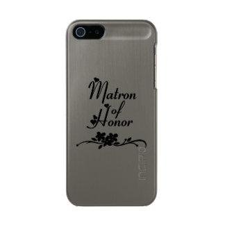 Matrona de los bodas del honor carcasa de iphone 5 incipio feather shine