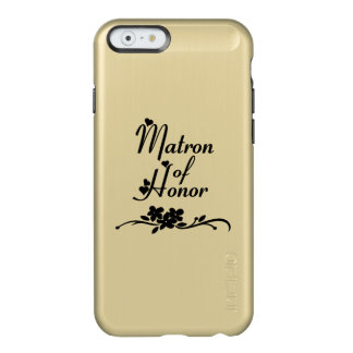 Matrona de los bodas del honor funda para iPhone 6 plus incipio feather shine